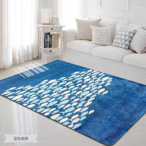 DHgate 5 colors northern europe ocean fishes blue large carpet for living room table chair soft floor rugs tapete para sala vloerkleed1