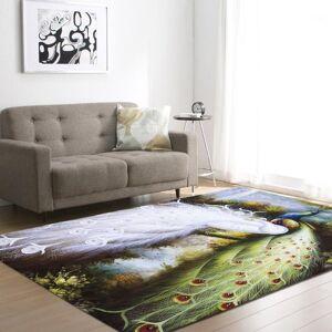 DHgate with gift 3d peacock print living room carpet kids bedroom rug alfombra para sala tapis salon teppich vloerkleed1