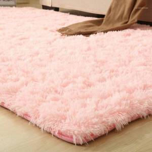 DHgate solid rugs pink puple carpet thicker bathroom non-slip mat area rug for living room soft child bedroom mat vloerkleed 9 colors1