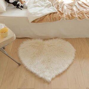 DHgate girl heart fluffy floor mat bedroom nordic style pink and tender love -proof room mat cute bedside blanket rugs vloerkleed