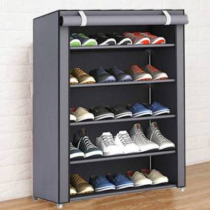 DHgate multiple sizes dustproof non woven fabric shoes rack shoe shelf home storage bedroom dormitory hallway cabinet organizer holder