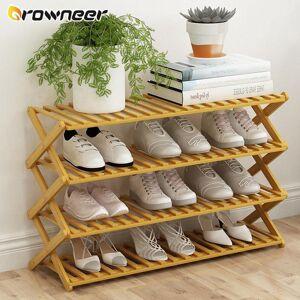 DHgate 2/3/4/5/6 layers natural bamboo shoe shelf folding shoe display stand multifunction flower pots wine space saving storage rack