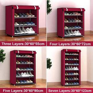 DHgate simple shoe cabinet dust storage simple shoe rack creative multi-layer large capacity storage cabinet special offer assembl