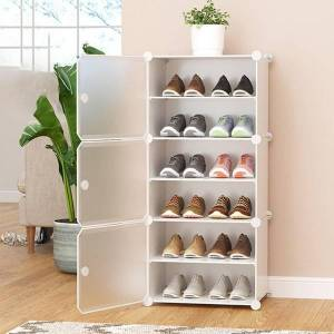 DHgate 4/6/8 layers shoe rack cabinet storage diy assembly shelf closet dustproof simple shoes organizer