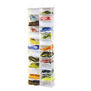 DHgate 26 pocket closet door foldable multifunction shoe rack hanging organizer space-saving holder household home use display storage