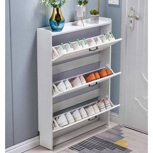 DHgate tipping shoe cabinet shoe storage shelf simple narrow ultra-thin 17cm space-saving home hall entrance cabinet