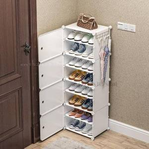 DHgate simple shoe rack high-capacity multi-layer dustproof storage dormitory small shoe cabinet resin rack load-bearing 60kg