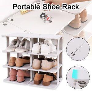 DHgate shoe rack washable drop front shoe organizer no punch storage shelf for bathroom living room