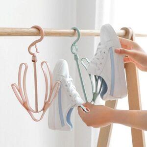 DHgate 20pcs plain windproof shoe rack, drying balcony shoes, hanger hook for hanging shoes clothing & wardrobe storage