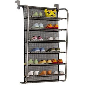 DHgate over door hanging shoe rack shoes organizer wall mounted shelf multi-layer household @ls clothing & wardrobe storage