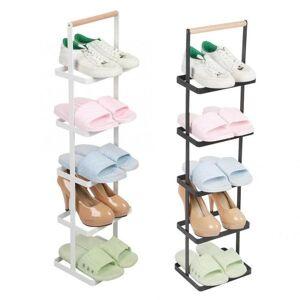 DHgate tier iron art save space shoe rack multi-layer shelves closet cabinet holder organizer with wood handle clothing & wardrobe storage