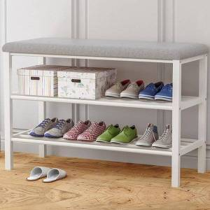 DHgate clothing & wardrobe storage 1pc shoe organizer home space-saving rack change shoes bench multi-tier easy assembly cabinet multi-functional g