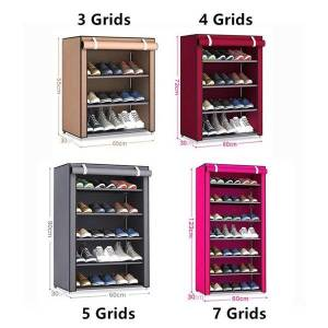 DHgate non-woven fabric slipper shoe shelf practical creative rack cabinet home organization housekeeping space save clothing & wardrobe storage