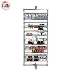 DHgate layers 360 degree rotating shoe storage wire mesh rack pull out clothing & wardrobe