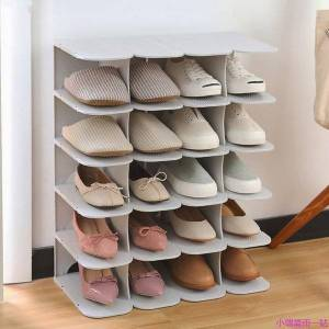 DHgate layers stackable shoe hanger assembly integrated large capacity shoes storage rack pp space saving safety stand organizer clothing & wardrob