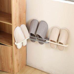 DHgate bathroom wall mounted folding shoe rack organizer shoes hanger slippers drain holder shelf towel clothing & wardrobe storage
