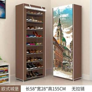 DHgate shoe rack tower organizer cabinet entryway stackable storage shelf unit with 4-tier durable shoemaker clothing & wardrobe