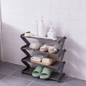 DHgate protable z-shaped shoes rack shelf shoe organizer holder door removable multi-layer storage cabinet furniture clothing & wardrobe