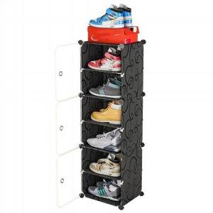DHgate multilayer shoe rack space shoes boots organizer closet diy assembled module cabinet with door furniture storage clothing & wardrobe