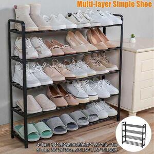 DHgate 4/5 tiers shoe rack steel pipe detachable dustproof storage organizer shoes space-saving stand cabinet shelf clothing & wardrobe