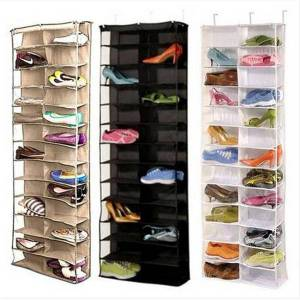DHgate shoe rack storage organizer holder folding hanging door closet 26 pocket household furniture, living room furniture shoe rack shoe cabinet