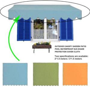 DHgate shade waterproof cover canopy replacement for garden patio courtyard outdoor awning sun shelter fabric