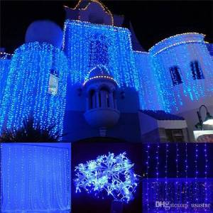 DHgate 300leds. 600leds. led window curtain string light wedding party home garden bedroom outdoor indoor wall decorations