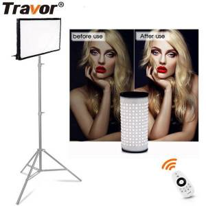 DHgate travor fl-3060 flexible led video light studio light size 30*60cm cri95 5500k with 2.4g remote control pgraphy lighting