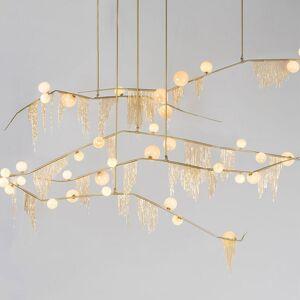DHgate modern aluminum chain chandelier handing pendant light ceiling lamp fixture gold fixture for living room bedroom kitchen pa0278