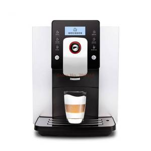 DHgate commerical dual heating system fully automatic lcd screen espresso coffee machine 19 bar grinding cappuccino/latte/milk maker