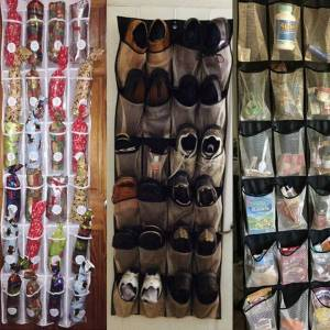 DHgate hanging shoe organizer non-woven 20 pocket shoes storage rack behind door nail bedroom tie waistband holder space saver