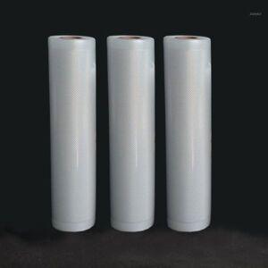DHgate 3 rolls/lot life kitchen vacuum bag storage bags for vacuum sealer fresh long keeping 12+15+20+25+28cm*500cm1
