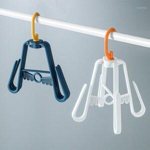 DHgate 3513 windproof shoe rack multifunctional rotating balcony shoe rack hook double hook drying1