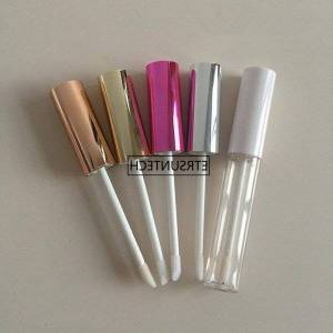 DHgate storage bottles & jars 100pcs 10ml empty lip gloss tube clear lipstick bottle container with lipbrush for travel f3761