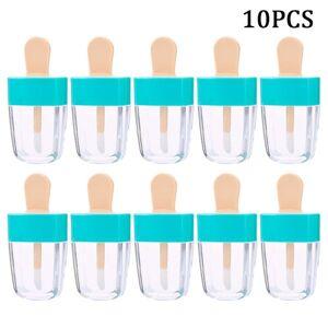 DHgate 10 pcs/set lip gloss empty bottles ice cream shape lip glaze empty tube shell with lid diy lipstick bottle filling container