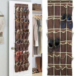 DHgate 24 pocket shoe space door hanging organizer rack solid wall bag storage closet holder sale