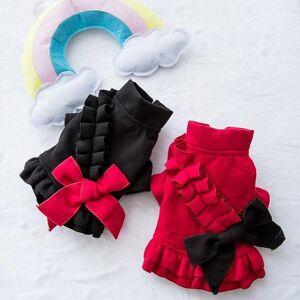 DHgate dresses for small dogs vestidos para perritas ubranko dla psa hundekleidung vestiti cane princess woolen skirt thickened fashion1