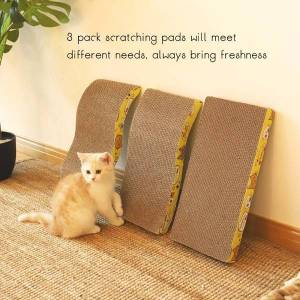 DHgate 2021 new toys risk tablet paper ondulado pad m form cat scratchers moping nail row slasher igdh