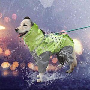 DHgate 2021 new dogs cover waterproof rain reflexive rainwear security golden retriever labrador great dog cat with hood 8ttp