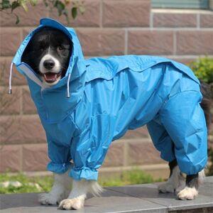 DHgate dog apparel large raincoat clothes waterproof rain jumpsuit for big medium small dogs golden retriever outdoor pet clothing coat