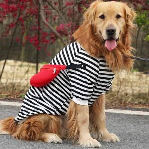 DHgate dog apparel big t-shirt spring summer clothes tee shirt samoyed golden retriever husky labrador clothing large pet costume outfit