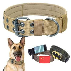 DHgate tactical dog collar adjustable military training movement pet accessories medium and large dogs labrador golden retriever suppli collars & l