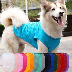 DHgate dog apparel concise cotton vest summer large clothes golden retriever tshirt big shirt husky pet ropa perro pets clothing 01ul