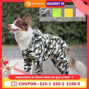 DHgate golden retriever hooded raincoat dog samoyed medium-sized large edge shepherd poncho all inclusive four-legged pet big clothes