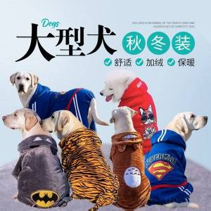 DHgate big dog cloth autumn and winter year golden retriever samoye medium-sized big labrador