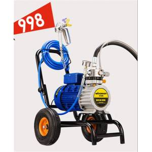 DHgate high pressure airless paint sprayer 220v 3000/3500w 8l/12l min with 1/2 spray guns electric airless painting machine 3000n/s