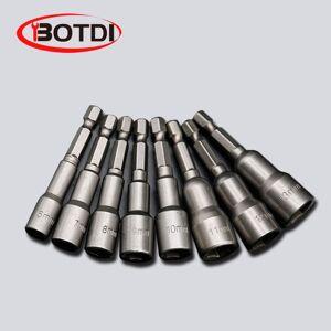 DHgate 1set magnetic impact nut driver socket set metric 6mm~15mm impact grade nut setters 6.35mm hex shank drill bit adapter