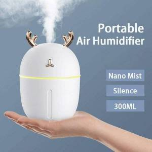 DHgate humidifiers mini air humidifier with usb port 300ml cute deer diffuser mist aromathera for car home office purifier fogger led light wetter