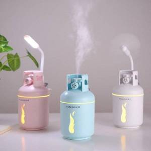 DHgate humidifiers 300ml gas tank ultrasonic air humidifier portable car purifier 3 in 1 usb aroma essential oil diffuser with light fan