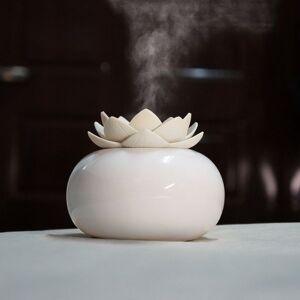 DHgate 200ml ceramic ultrasonic aroma humidifier air diffuser simplicity lotus purifier atomizer essential oil diffuser difusor de